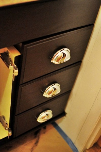 upgrade cabinets by staining using gel stain, Monica Wants It
