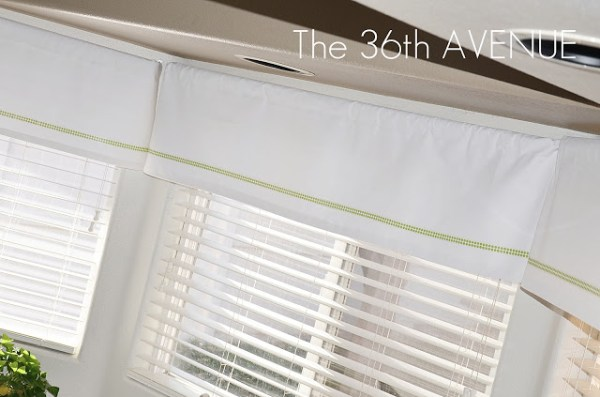 washi tape home decor - accent on curtains, 36th Avenue