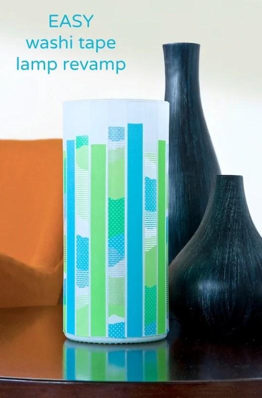 washi tape home decor - modern accent lamp, Washi Tape Crafts