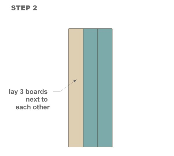 wood shutter tutorial step two
