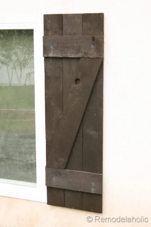 DIY wood shutters installation