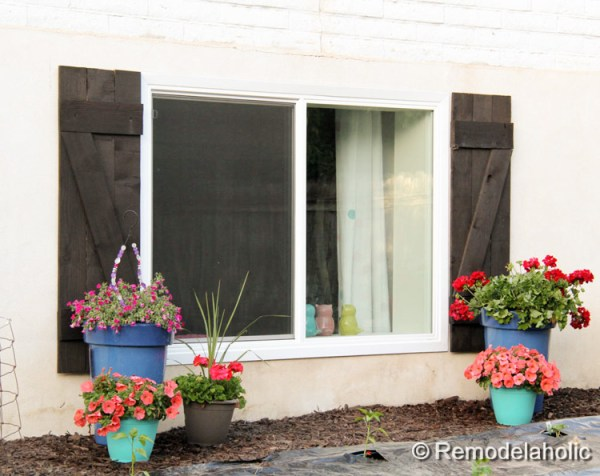 Build your own wood shutters for under $40 plus more ideas for exterior shutters at Remodelaholic.com
