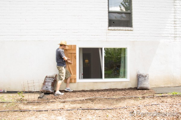 install DIY wood shutters