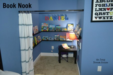Featured on Remodelaholic: kids book nook, DeJong Dream House