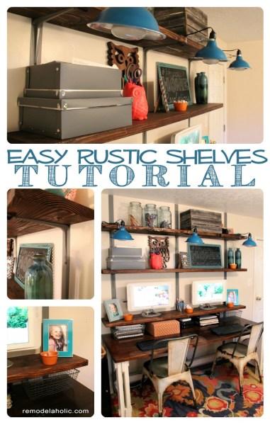 Easy Rustic Wall Shelves Tutorial