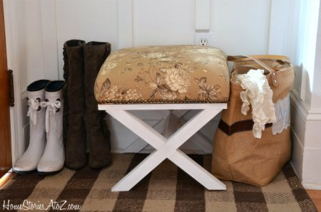 diy x-leg stool, Home Stories A to Z