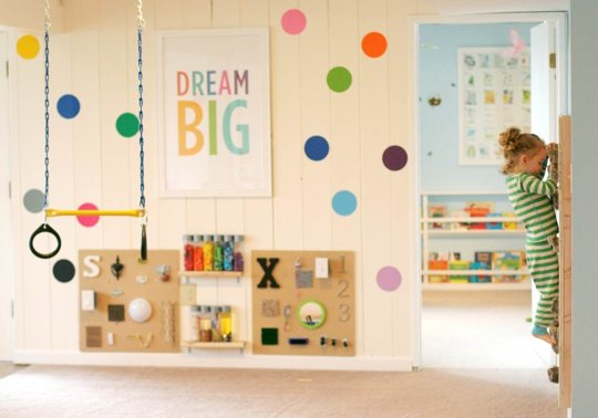 Family Room Turned Kids Playroom Fun At Home With Kids On Apartment Therapy Via Remodelaholic