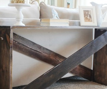 cute and easy DIY sofa table