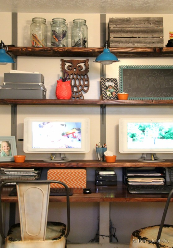 Remodelaholic Easy Rustic Wall Shelves