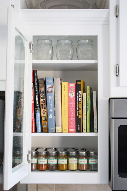kitchen curio cabinet with glass door, At Home - featured on Remodelaholic.com