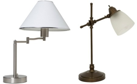 stylish swing arm and pivot lamps for home office via Remodelaholic.com