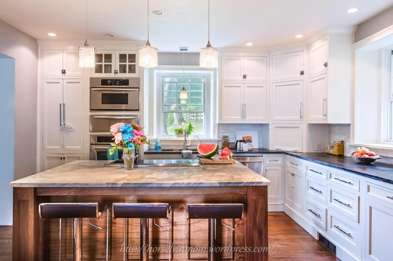Remodelaholic & Remodelaholic | White Country Kitchen Remodel with Marble Backsplash