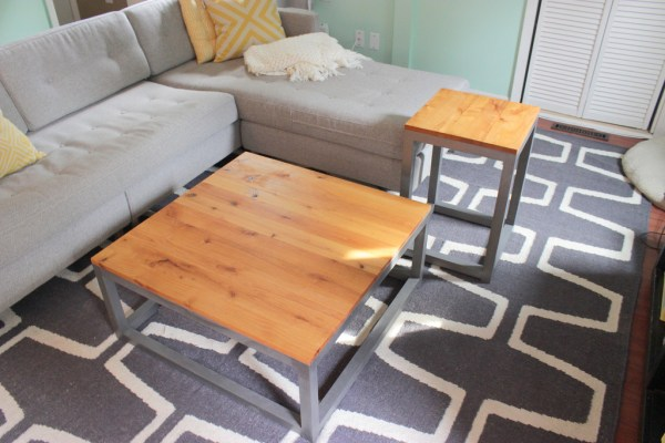 Build a DIY modern coffee table and end table, Home Coming featured on Remodelaholic