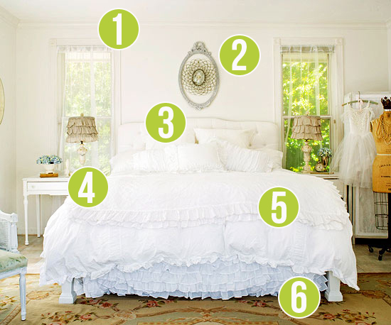 Get This Look - Dreamy White Bedroom - 6 Tips from Remodelaholic.com #getthislook #bedroom #decorating