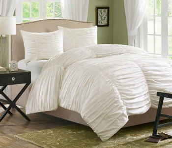 Home Essence ruched comforter set, Amazon