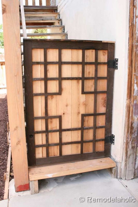 Outdoor Tall Baby Gate, Remodelaholic