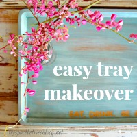 easy tray makeover made by thespacebetweenblog.net