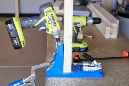 kreg-jig to build workbench, featured on Remodelaholic.com