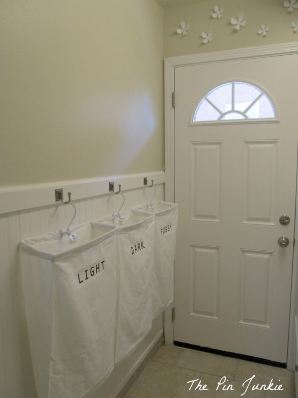 laundry room makeover, The Pin Junkie featured on Remodelaholic.com