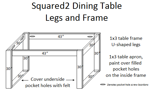 modern square motif dining table DIY building plans, Sunnyside Upstairs featured on Remodelaholic