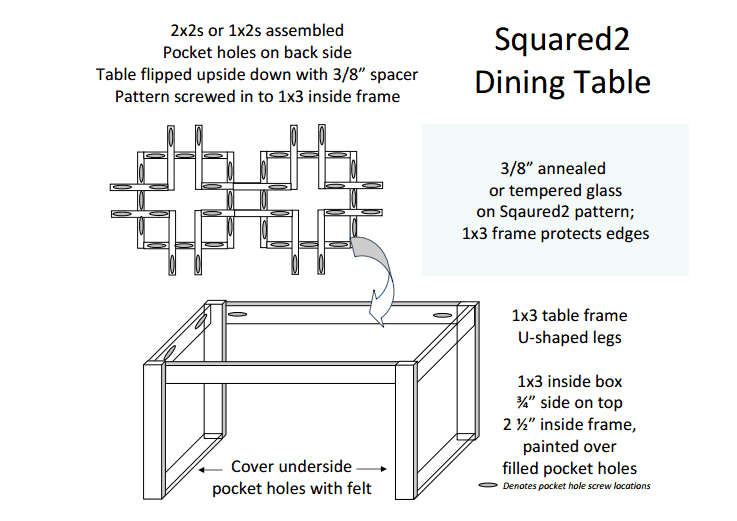modern square motif dining table building plans, Sunnyside Upstairs featured on Remodelaholic