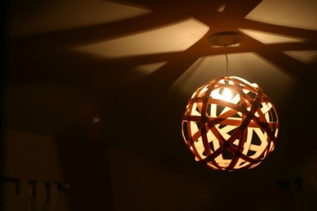 moooi random pendant knock-off diy tutorial, Our Humble Abowed featured on Remodelaholic