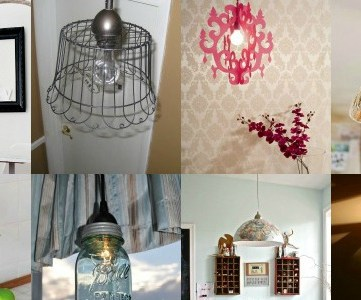 great DIY pendant lights via Remodelaholic