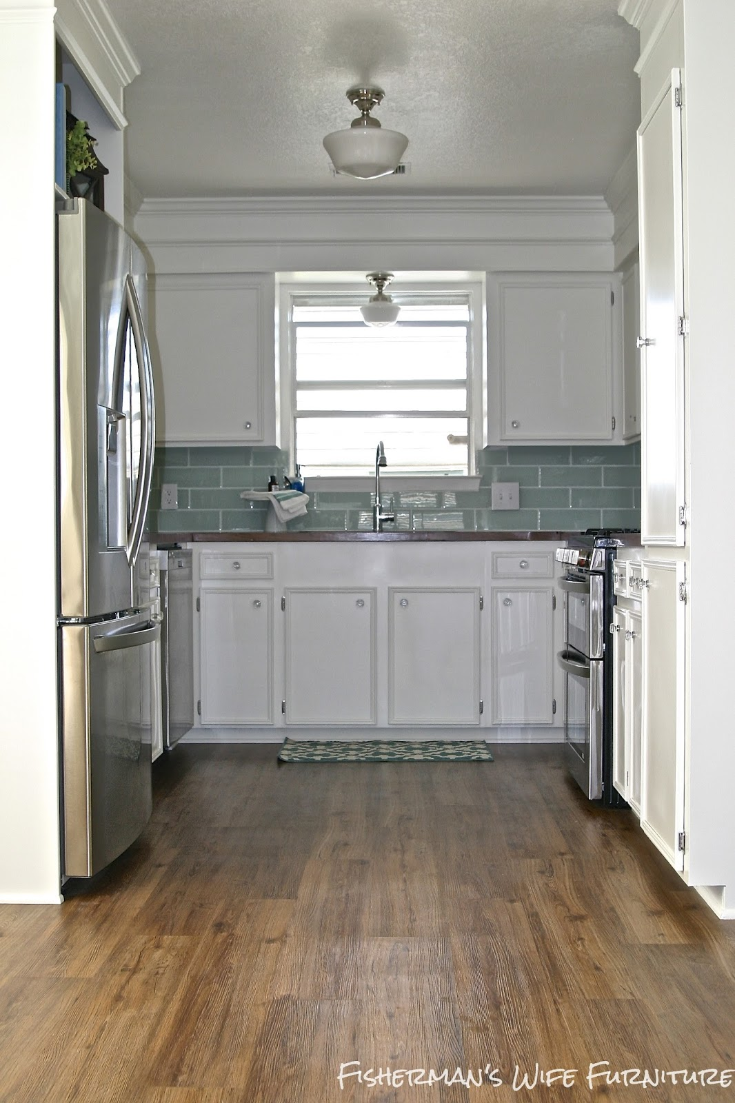 Remodelaholic   Small White Kitchen Makeover with Built-In ... on Small Kitchen Renovation  id=50657