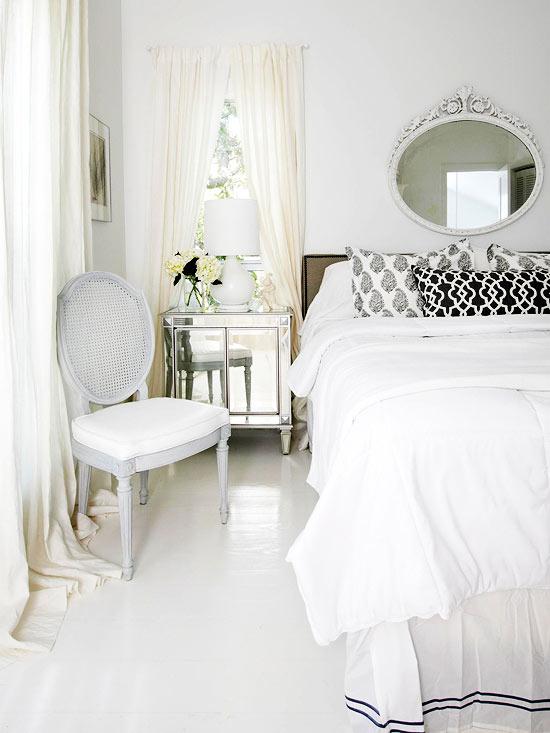 white on white master bedroom, Better Homes and Gardens