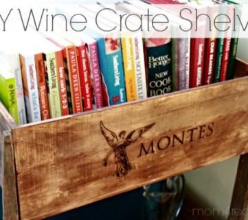 DIY Wine Crate Shelves