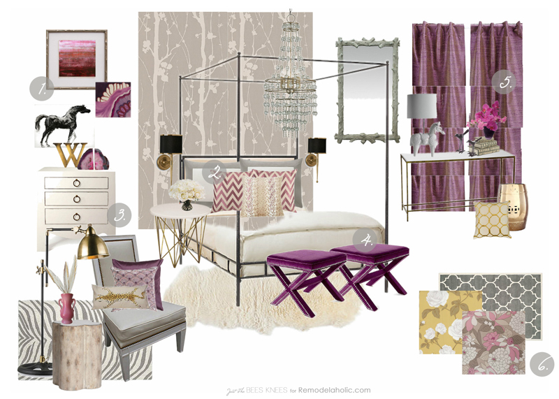6 DesignTips for Decorating with Radiant Orchid from Remodelaholic.com #trends #moodboard #pantone #radiantorchid