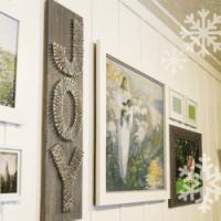 String Art Tutorial Joy sign Chrsitmas art-250 x250