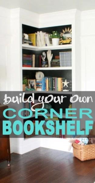 built a built-in corner bookshelf, Remodelaholic