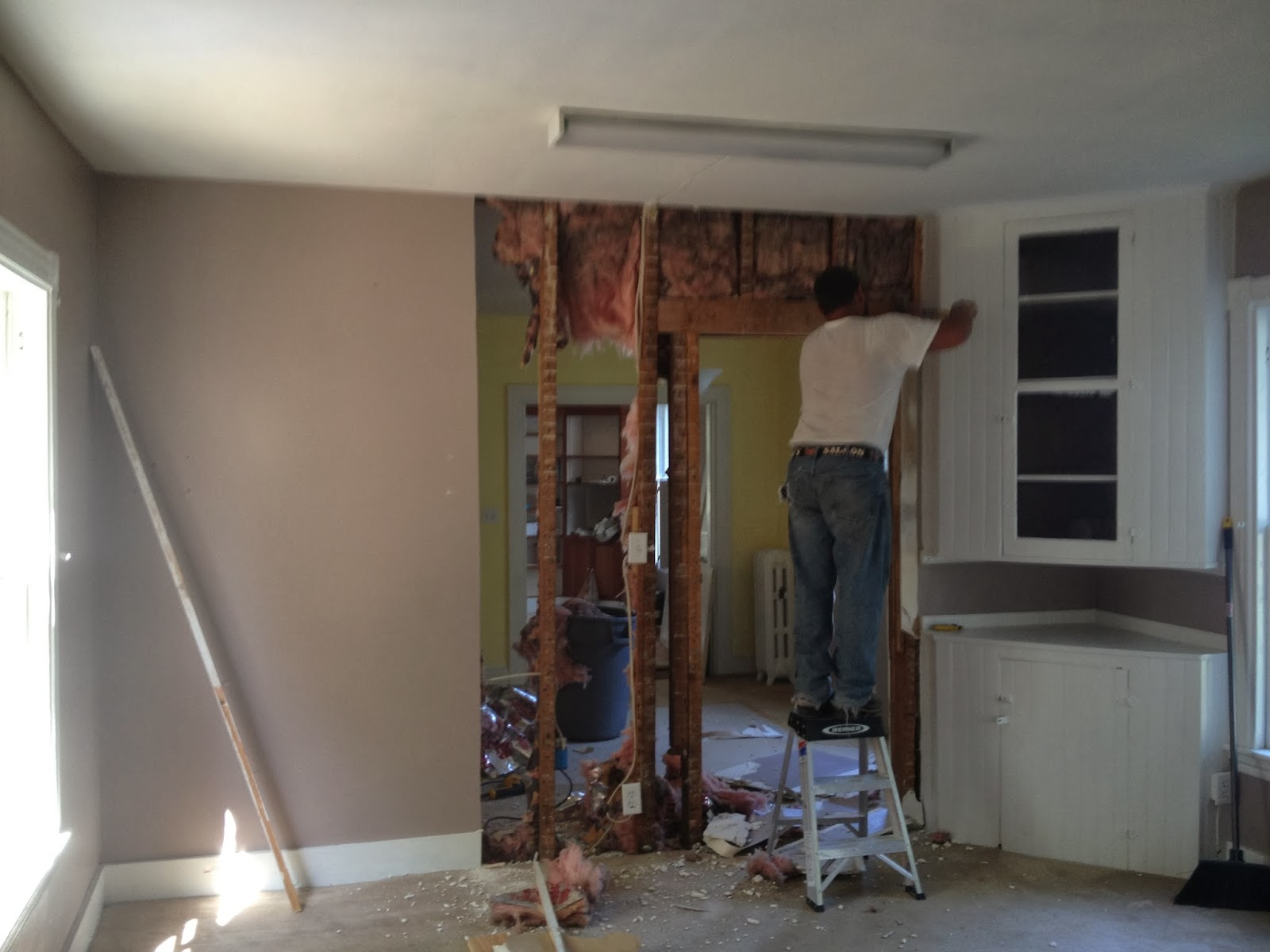 Demo Day, Taking Out The Dining Room Wall, SoPo Cottage Featured On  Remodelaholic