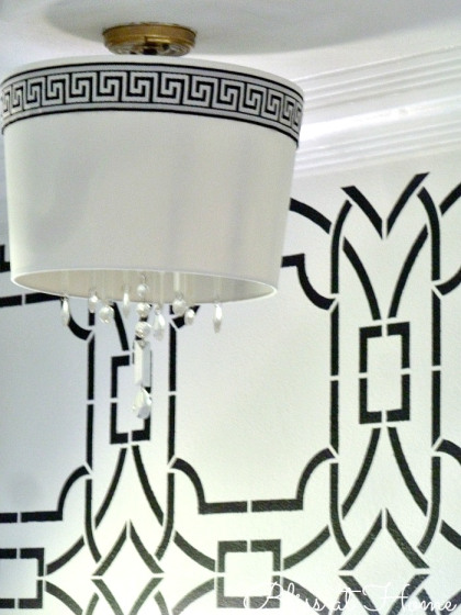Diy Drum Shade Chandelier Bliss At Home Featured On Remodelaholic Lightfixture
