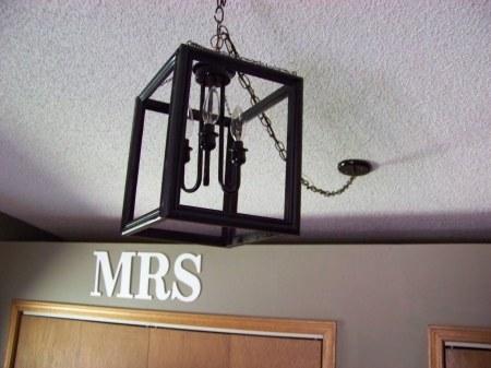 diy pottery barn lantern ceiling light tutorial, Sunset Lane featured on Remodelaholic