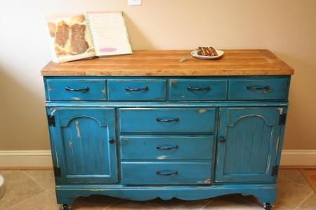 dresser to modular colorful kitchen island, Sweet November featured on Remodelaholic