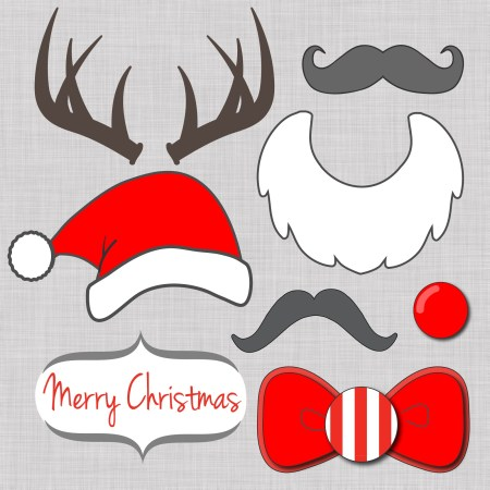 free Christmas Photo booth props-01