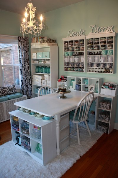shared office craft room, Scrapbook-com