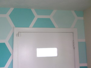 stencil above the door, For My Love Of featured on Remodelaholic