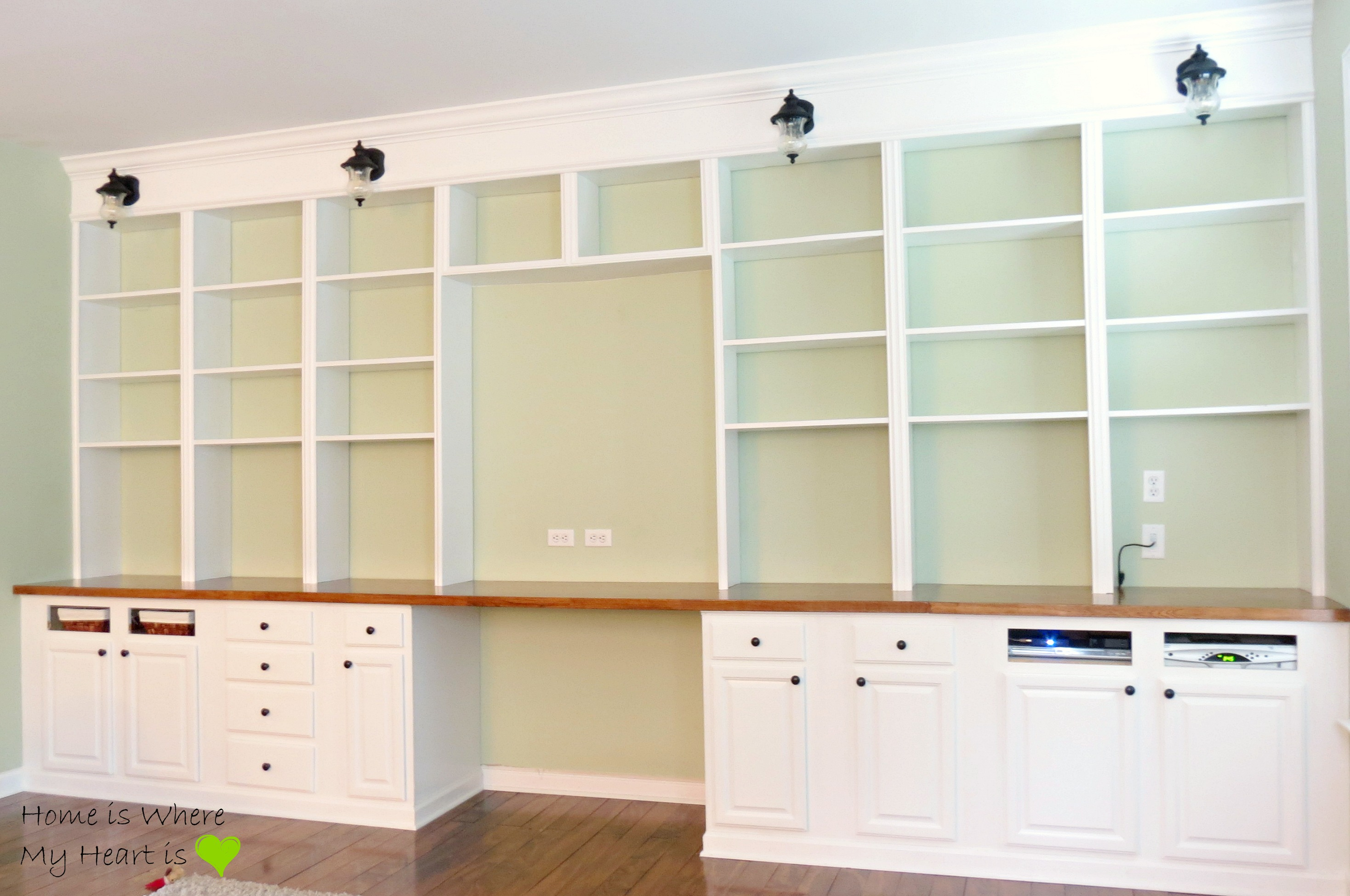 Beau ... Wall To Wall Built In Desk And Bookcase | Home Is Where My ...