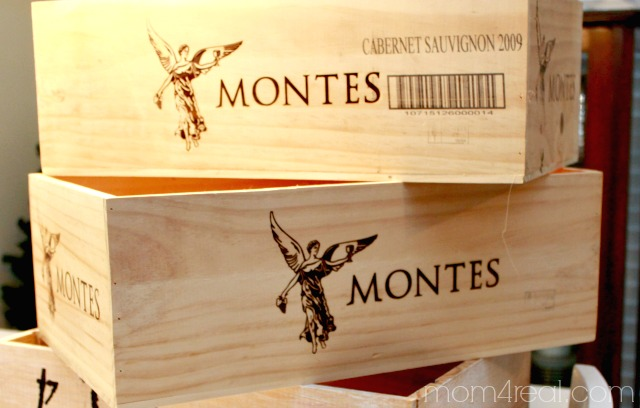 wine crates for shelves, Mom4Real featured on Remodelaholic