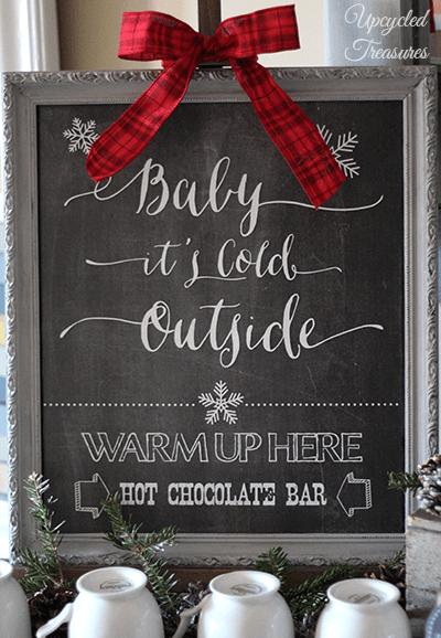 01-03 hot chocolate bar printable, Upcycled Treasures