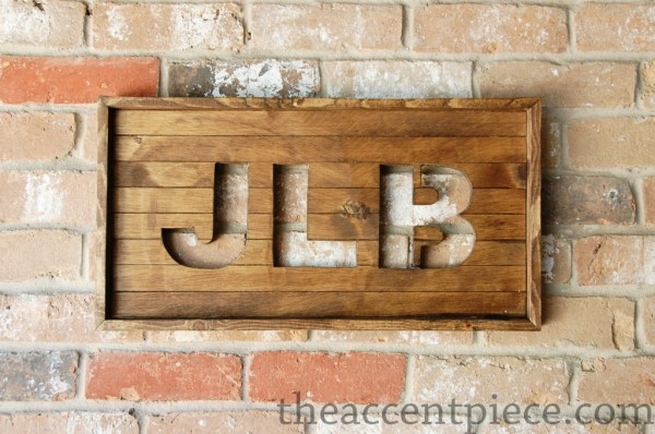 01-24 diy nursery initial wall art, The Accent Piece