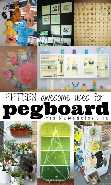 15 Great Uses For Pegboard via Remodelaholic