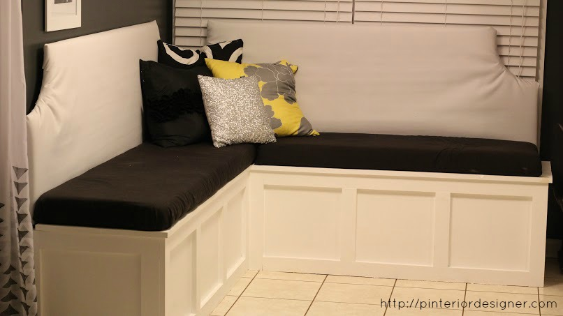 Exceptionnel DIY Custom Corner Banquette Bench, Pinterior Designer Featured On  Remodelaholic