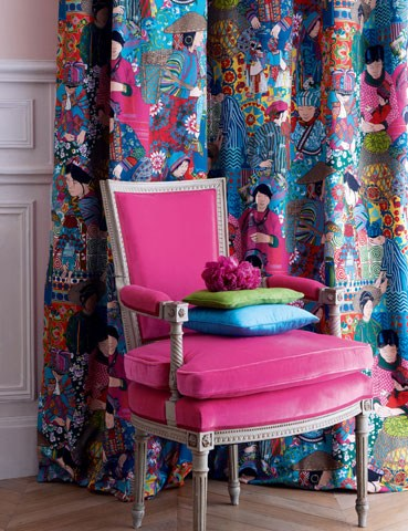 Fuchsia Chair, House and Garden