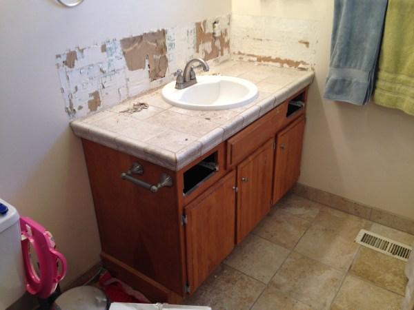 Remodelaholic Updated Bathroom Single Sink Vanity To Double Sink