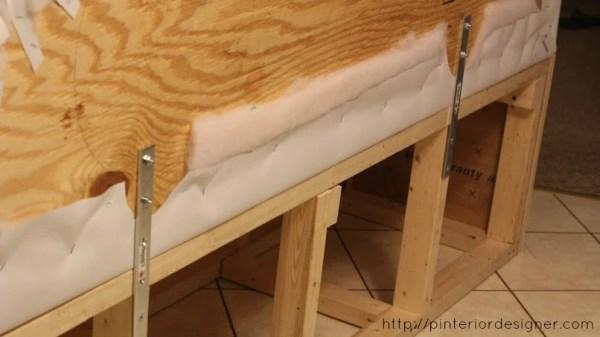 attach headboard backrest to banquette bench, Pinterior Designer featured on Remodelaholic
