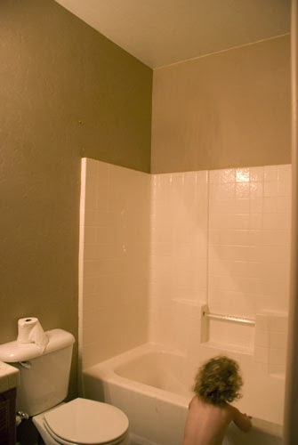bathroom before budget makeover, Vintage Romance featured on Remodelaholic